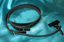 Morgan Monroe Belt Leather Mandolin Strap, Black, MMS-LBK