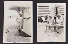 FLAPPER GIRLS TYPE 1930s BEACH OUTFITS SOCIAL HISTORY ORIGINAL ANTIQUE PHOTOS