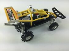 Vintage YELLOW Dune Buggy Pull-Back Friction Made in Macau MG toy company