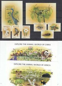 Sierra Leone 2986-91 +2992-03 KB+ Block 384/5 Animals (MNH)