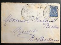 1914 Medan Netherlands Indies cover to Rotterdam Holland