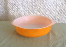Vintage Orange Crown Ovenware Size 11 Pyrex Baking Casserole Dish