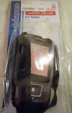 Funda para Nokia 6110 negro & transparente vivanco de cuero con clip de giro nuevo