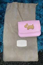 Pink Leather Radley Coin Purse With Drawstring Bag