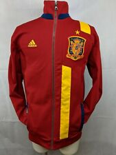Adidas Jacket Soccer Small Spain 1909 Plus Ultra RFCF Full Zip Track Red & Gold
