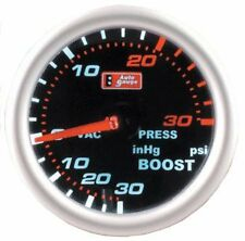 CLEARANCE Autogauge Mechanical 52mm Smoked Face Faced Turbo Boost Gauge Kit PSI