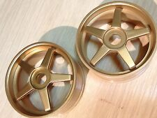 KYOSHO 1/8TH 2 x GOLD BUGGY WHEELS FITS GT GT2  MP7.5, IGH001