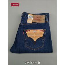 LEVI'S Jeans Levis 501 Original Adapté Homme Bleu Classique Droit Straight Neuf