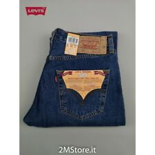LEVI'S jeans LEVIS 501 Original Fit uomo blu classic denim Dritto Straight nuovi