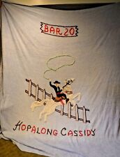 1950's Vintage HOPALONG CASSIDY Twin/Full Blue Chenille Bedspread Coverlet