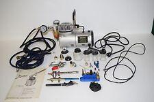 Central Pneumatic Pro Mini Air Compressor 95630 & Lot of Air-Brush Equipment