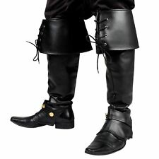 Classy Gaiters BOOTS Gauntlets for Musketeer Pirate Gothic LARP Boot Cuffs
