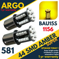 581 44 Led Indicator Amber Orange Turn Signal Offset Bau15s Py21w Rear Bulbs