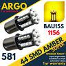 581 44 LED AMBER ORANGE TURN SIGNAL OFFSET BAU15S PY21W REAR INDICATOR BULBS
