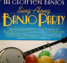 "THE GEOFF LOVE BANJOS ""SING-ALONG PARTY"" 2 LP SET 1975 mfp emi"