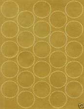Serrated Glossy Starburst Gold Foil Seal - 150 count (6 sheets) Certificates