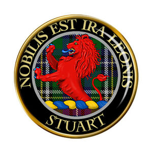 Stuart Scottish Clan Pin Badge