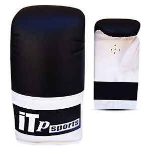 Leather Boxing Gloves Mitts Punch Bag Training Sparring Gloves MITTS