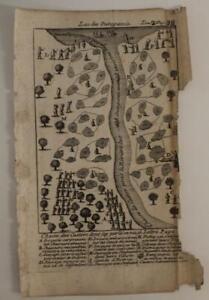 BEAVER HUNTING LAKE MICHIGAN UNIDE STATES 1741 DE LAHONTAN UNUSUAL ANTIQUE PLATE