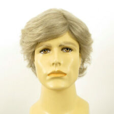 Short Wig For Men Natural Hair White And Grey Ref REMY 51