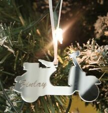 Personalised Classic Vespa Italian Scooter Christmas Tree Decoration & Gift Bag