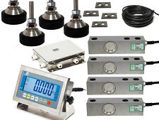 Floor Scale kit 500kg capacity with 4 load cells Jn box and read out (St Steel)