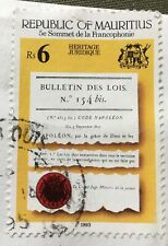 Mauritius stamps - Page from Napoleonic Code  6 Mauritian rupee 1993