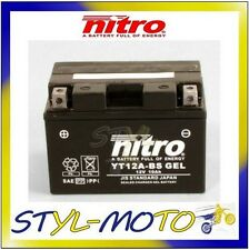 YT12A-BS_GEL BATTERIA BATTERY NITRO AGM GEL SUZUKI SV 650N 2000