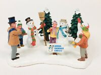 Authentic Lemax Table Accent 2006 Village Collection Snowman Contest With Box.
