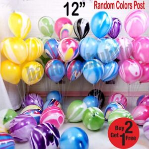 """10-100, 12"""" Mix Marble Agate Balloons for Birthday Wedding Party decor baloons"""