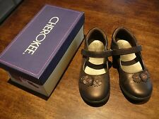 Cherokee Brown Leather Mary Jane Shoes 11