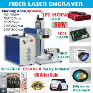 MOPA JPT M7 80W Fiber Laser Marking Machine Deep Engraving Cutting Color Marking
