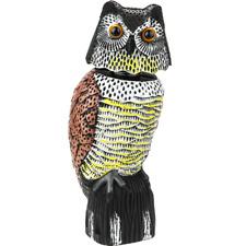 Ahuyentador de aves tipo estatua búho con ojos reflectantes 40cm hembra