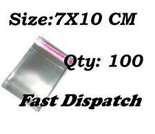 100 di 7 x 10 cm chiaro display VIOLONCELLO SACCHETTI DI CELLOPHANE Autoadesivo Peel & Seal