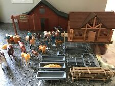Breyer Stablemates Lot Horses, Cabin, Stable, Fences, Ranchers, Plus