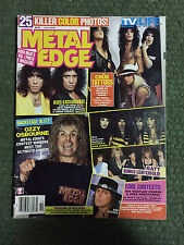 Metal Edge magazine October 1986 Kiss Motley Crue Ozzy Ratt Dokken Stryper