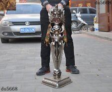 Tibetan Meteorite iron Tiantie Mahakala Skull Vajra Phurpa Dagger equipment Faqi