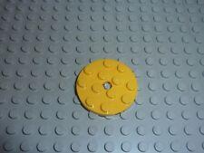 LEGO Yellow round plate Réf. 60474 Set 8037/7939/7669/7930/7633/4999/9348/30062