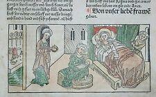 INKUNABEL,VORAGINE,DER HEILIGEN LEBEN WINTERTHEIL,A.KOBERGER,1488,KOLORIERT,6