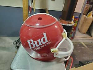 Budweiser Plastic Helmet Ice Bucket Snack Tray Red