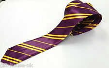 PURPLE YELLOW STRIPE HARRY POTTER  GRYFFINDOR TIE HOGWARTS WORLD BOOK WEEK TIE