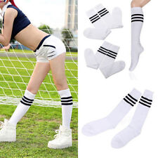 Men Women Hosiery Running Knee High Stripe Football Long Tube Socks Sport Soccer