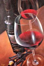 Original Fine Art Bright Colors Famous Wine Cork 24 x 36 $610. Red Wine
