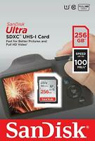 SanDisk® Ultra 256GB SDXC™ UHS-I SD Card Speed up to 100MB/s New Genuine