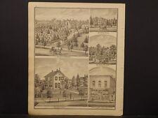 Ohio, Portage County Map, 1874, Engravings, Furniture Dealer, Bank Block, J1#22