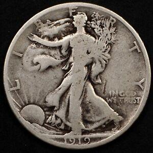 SCARCE DATE CIRCULATED 1919-S WALKING LIBERTY HALF DOLLAR. SELLING ENTIRE SET!