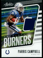 2020 ABSOLUTE BURNERS RELICS PARRIS CAMPBELL PATCH CARD INDIANAPOLIS COLTS