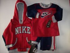 Nike Outfit 3pc Set Jacket Shirt Pants Baby Boys 6-9 Mos Blue Football New