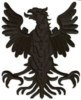 Patch dorsal écusson thermocollant patche Aigle medieval armoirie blason