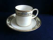 Wedgwood Cliveden large coffee can & saucer (cup has VERY minor rim gilt wear )